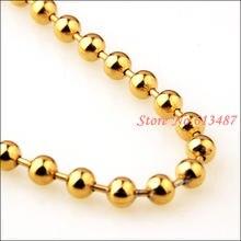 Цепочка Из Нержавеющей Стали 316l ожерелье с бусинами под золото