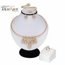 MUKUN Fashion Dubai Jewelry Sets Gold Color African Beads Jewelry Set For Women Wedding Geometric Indian Ethiopian Jewellery цена в Москве и Питере