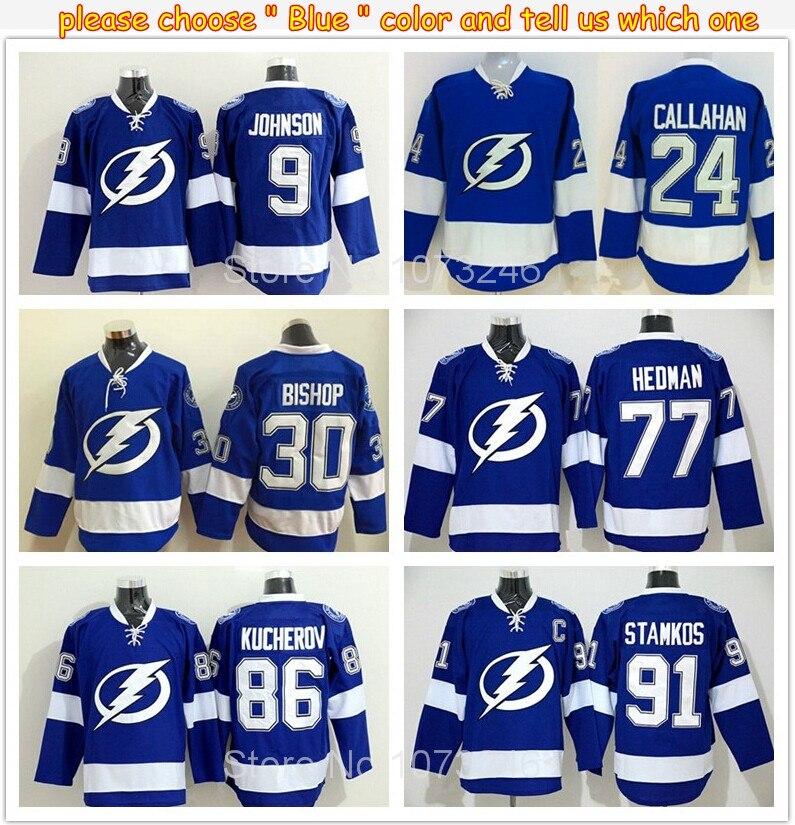 41a2c1f9510 Tampa Bay Lightning Jersey Hockey 91 Steven Stamkos 9 Tyler Johnson 27  Drouin ...