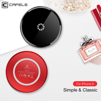 Cafele Wireless Charger Acrylic Aluminum Alloy Qi Wireless Charger Qi Certified Fast Charge Wireless Charger For
