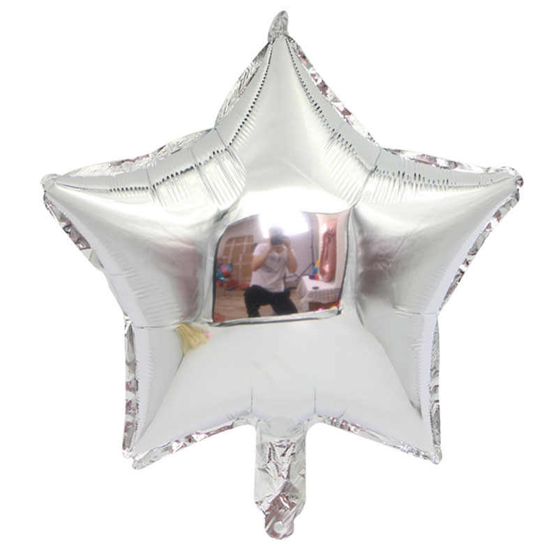 1pc 18inch Star Hart Opblaasbare Helium Ballon Birthday Party Decorations Kids Folie Ballonnen Bruiloft Kerst Levert Geschenken