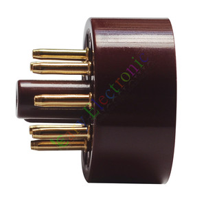 Wholesale and retail 4pc 8Pin Red Gold Bakelite Vacuum Tube sockets Saver Fr 6L6 EL34 KT88 audio amp free shipping(China)