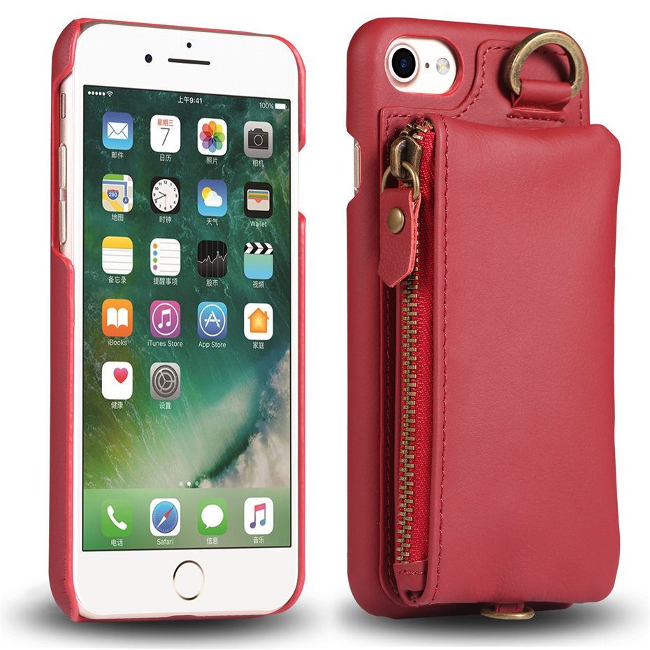 COQUEN For iphone 7 Plus Case Genuine Leather Wallet Bag Luxury Credit Card Flip Cover Vintage Handle Phone Cases For iphone 7   (5)