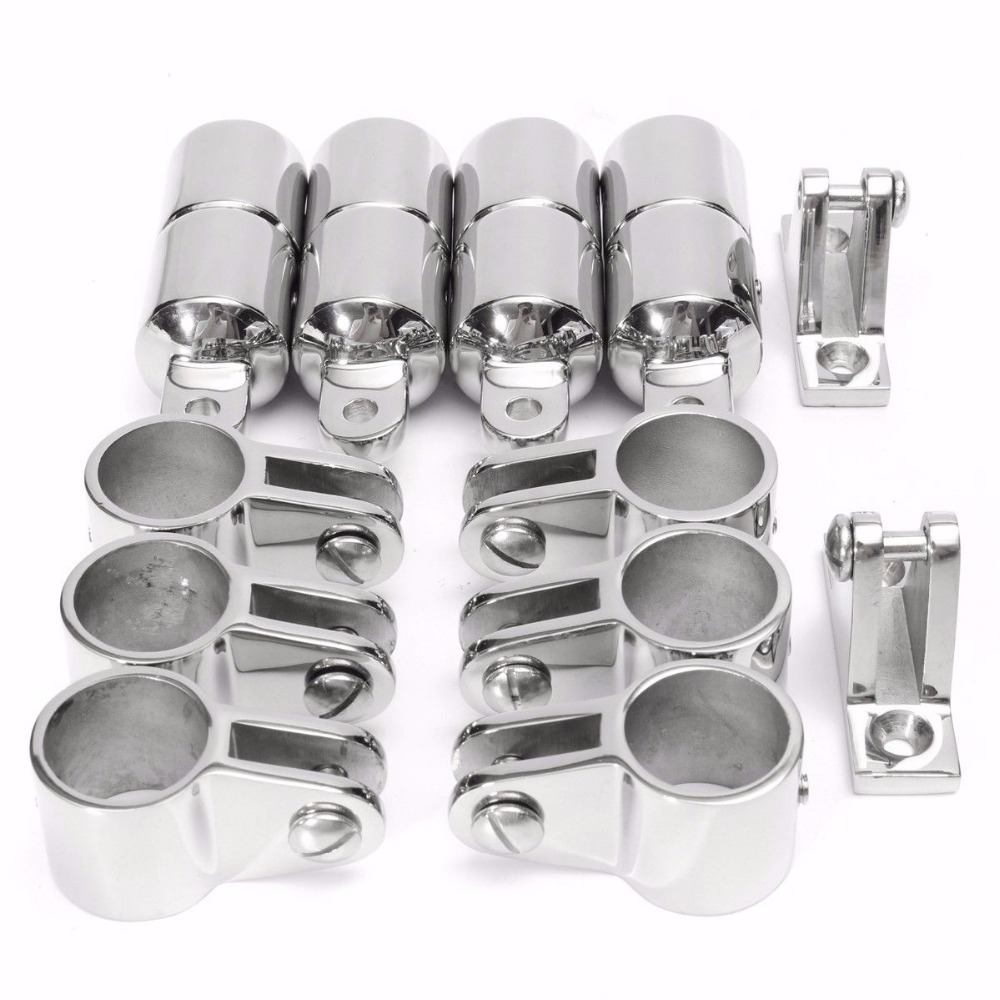 "Boat Bimini Top Hardware Fitting 4 Bow 1/"" Marine Stainless Steel set"