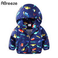 2018 Spring Summer Children Outerwear Coats New Car Print Kids Hooded Jackets For Boys 2 8Y