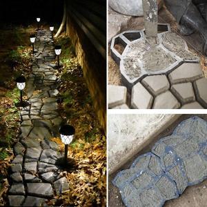 Image 5 - 3 sztuk kostki brukowej formy chodnikowe betonowe formy z tworzywa sztucznego ścieżki Patio cementu DIY nawierzchni plastikowa forma posadzka ogrodowa drogi krokowy