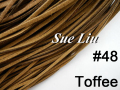 10pcs 3mmx1.5mm Toffee Flat Faux Suede Velvet Leather Cord -1M/pcs NCS27-48