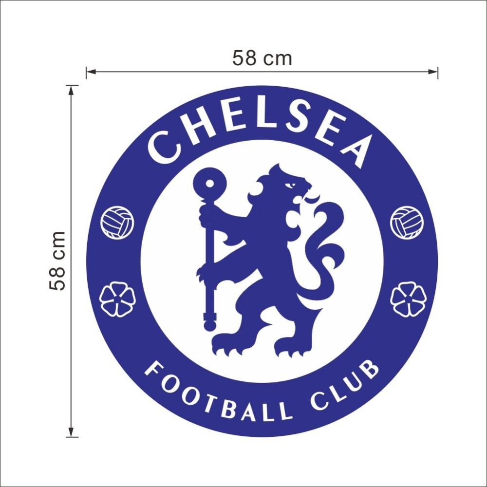 Removable Chelsea Fc Football Club Logo Wall Stickers For Soccer Fans Bedroom Decoration Home Decals Vinyl Mural Art Wall Decor Wall Stickers Aliexpress [ 1000 x 1000 Pixel ]