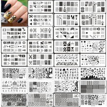 Nail Stamping Plates New Arrival 1pc XY-Z,SPH 28Design Quality Geometric Patterns Manicure Rctangular 12*6cm Template PLATE