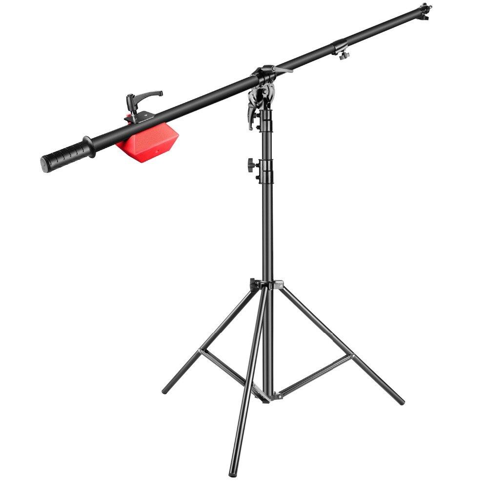 Neewer Pro Lâmpada Boom Stand Altura Máxima 71 inches/180 cm com Segurando o Braço para Monolight Strobe Luz do Anel luz Softbox e Muito Mais