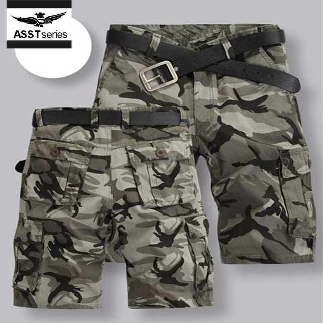 85024ca133 Hombres lycra pantalones cortos de camuflaje suelta top brand hombres shorts  con bolsillos cortos sudor basculador