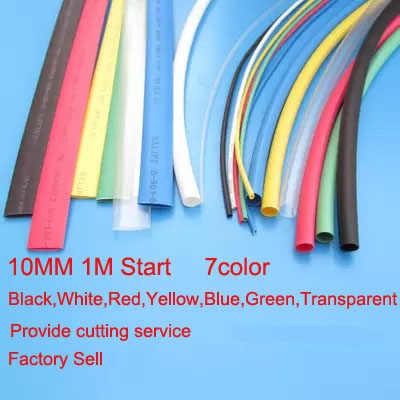 Fábrica de vender dia10mm de Dissipadores de Calor Tubos Shrinkable Tubing Isolamento Sleeving 2:1 na cor diferente