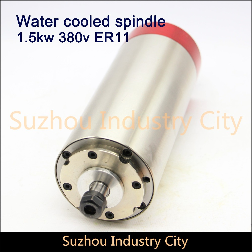 Water Cooled Spindle Motor engraving milling grind New Product 380VAC 1.5KW CNC 80x200mm ER11 3 Bearings cnc 2 2kw water cooled er20 germany four bearing bearing spindle motor engraving milling grind