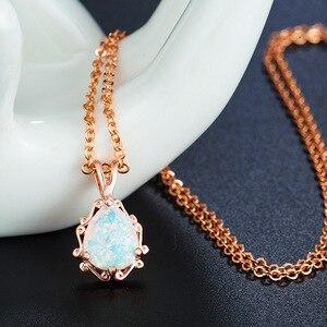 Image 3 - 2020 neue Liebe gott Amor paar Opal Halskette Großhandel Mode Schmuck 100% 925 silber Kristall von Swarovskis Frauen