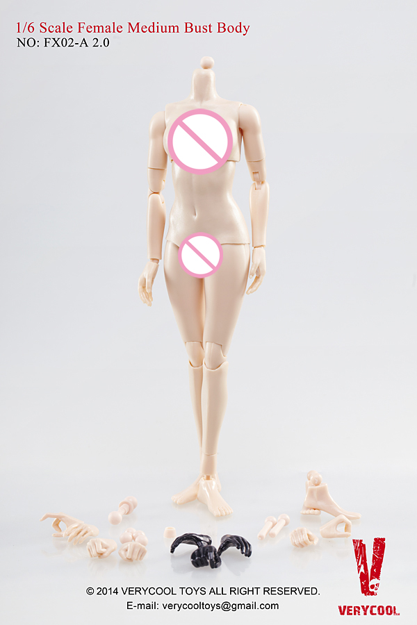 VERYCOOL FX01-D 1//6 Scale Female Body The upgrade version 3.0 model
