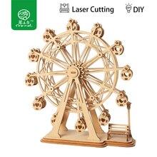 Robud 3D DIY ремесло колесо обозрения игра-головоломка деревянная модель строительные наборы Популярные Развивающие игрушки подарки для детей и взрослых TG