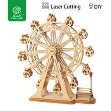 Robud 3D DIY Craft колесо обозрения игра-головоломка деревянная модель строительные наборы Популярные Развивающие игрушки подарки для детей и взрослых TG