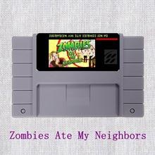 Zombies Ate My Neighbors NTSC de 16 Bits Tarjeta de Juego Grande Gris Para EE. UU. Versión Jugador Del Juego