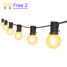 Waterproof 25Ft LED String Lights 25pcs E12 Bulbs Street Garden Indoor Outdoor Decorative String Lighting for Holiday Party