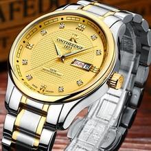 Mens Watches Top Brand Luxury Casual Business Ultra Thin Gold Watch Men Quartz Wristwatch relogio masculino erkek kol saati 2017