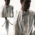 2017 Men Tuxedos Business Suit Brand Boss Dress Suit For Mens Wedding Formal Business Boys Suits Groom White Tuxedos Tailcoat