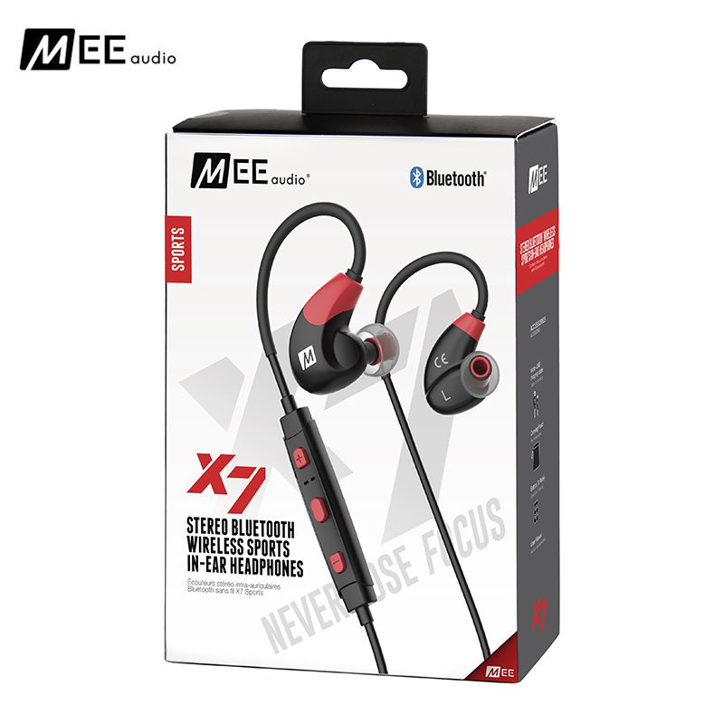Original MEE audio X7 Bluetooth Sports Headphones Deep Bass Wireless In-ear Headset Sweat-resistant Earphones With Mic For Phone audio labs 3inch bass speaker square frame deep suspension 4 8ohm 78 78mm 25w