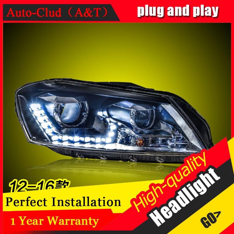 Auto Clud Car Styling For VW Passat led headlights For Passat head lamp led DRL front light Bi-Xenon Lens Double Beam HID KIT