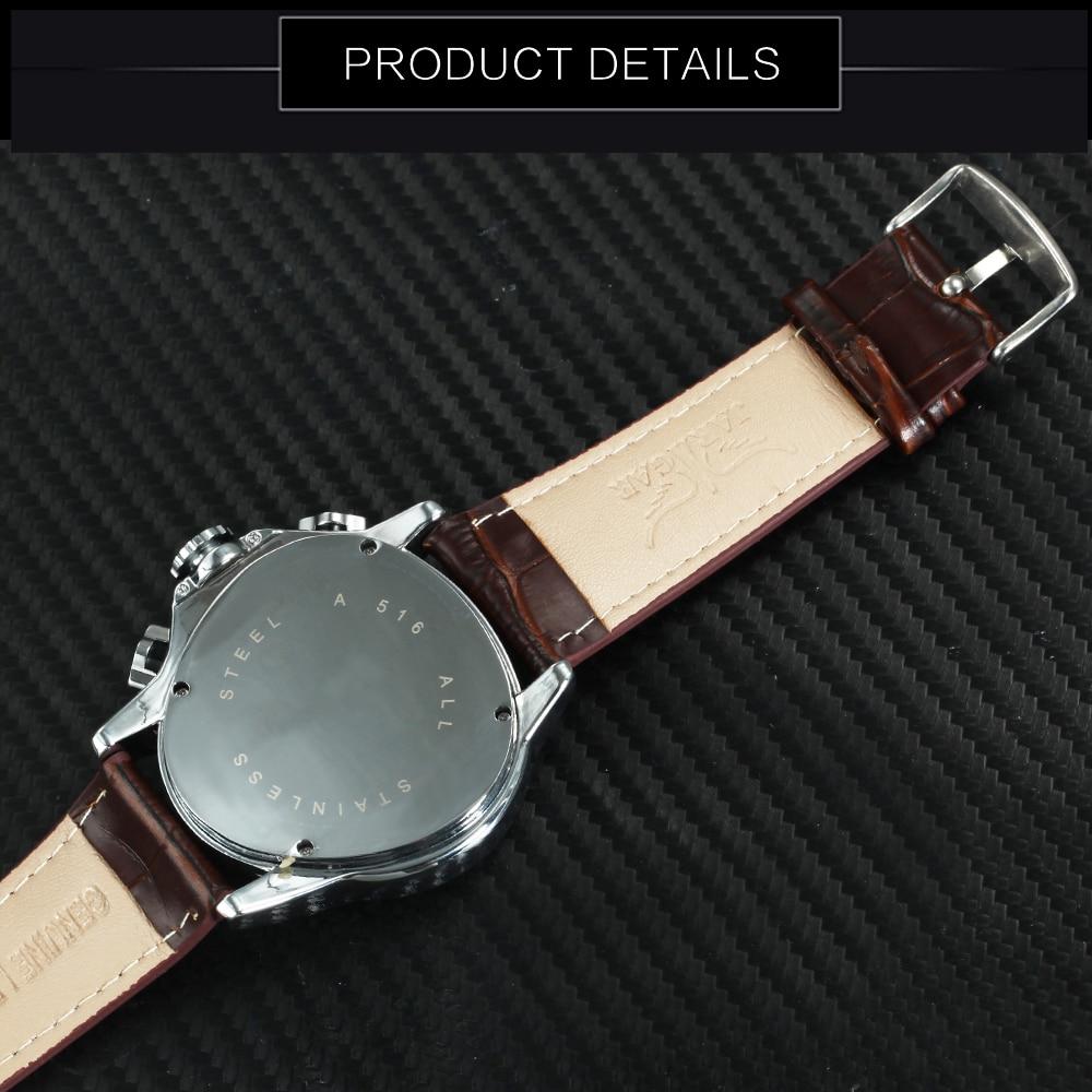 triangle masculino 3 sub-mostradores 6 mãos reloj hombre