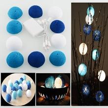 Aladin 10 Romantic Cotton Ball Gorgeous Creative String Light Blue Party Christmas Tree Decor Decoration 1.8M