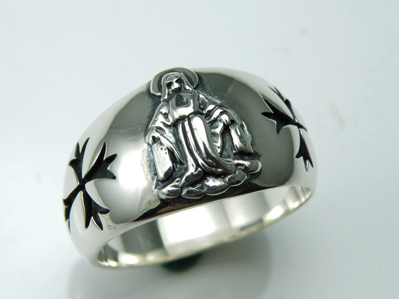 Cross 925 pure silver ring цена