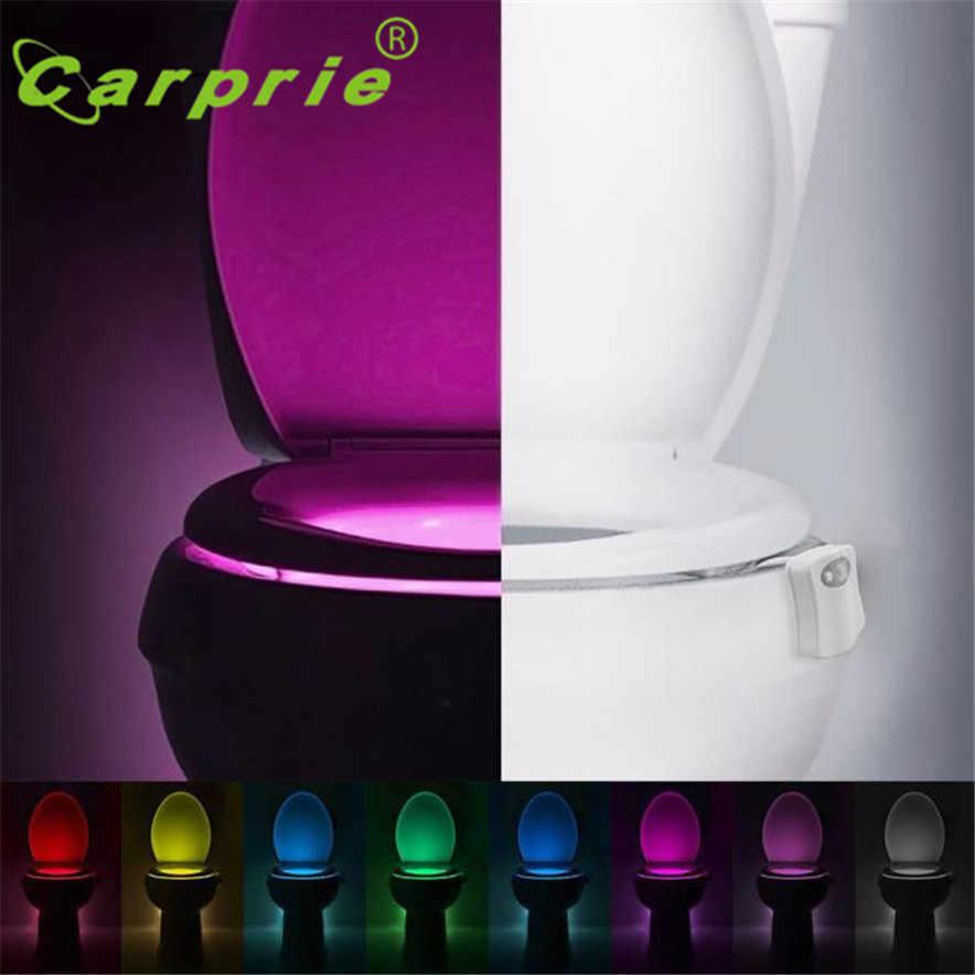 CARPRIE тела зондирования автоматический светодиодный датчик движения ночника унитаз для ванной комнаты PIR Туалет светильник l70322 Прямая поставка