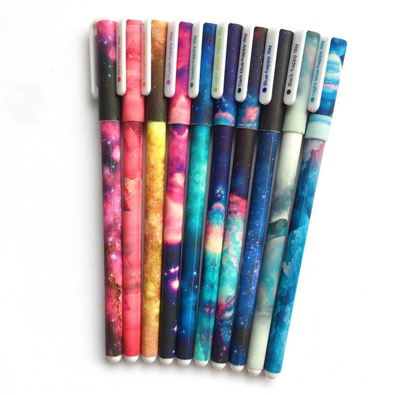 Stationery Office Black Ink Gel Pen Neutral Pens Mermaid Pen Rainbow Colors