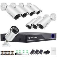 DEFEWAY HD 1080P P2P 16 Channel CCTV System Video Surveillance DVR KIT 8PCS Outdoor IR Night