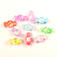 LF 30Pcs Mixed Resin Clear Candy Decoration Crafts Flatback Cabochon Kawaii DIY Embellishments For Scrapbooking Accessories