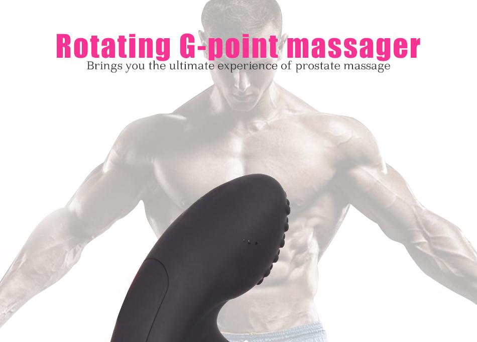 LURE 3 level Rotating speed anal plug vibrator prostate massager 15m remote control ergonomic design for Men Anal Sex Toys 9