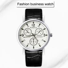 Casual Watches Men Unisex Fashion Leather Luxury Wrist Watch Blue Ray Glass Sport Quartz Fancy Watch Men Brand New High Quality
