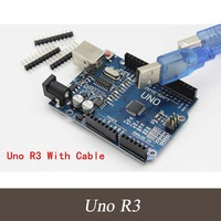 High Quality 5 PIECES UNO R3 MEGA328P CH340 CH340G For Arduino UNO R3 USB Cable