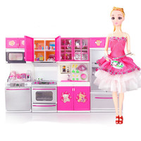 Children's kids kitchen toys for girls With Doll Simulation Cooking tool Set Pretend Play Kitchen Educational toys set for kids