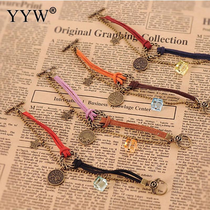 Vintage Constellations Charm Bracelets Set For Woman Fashion Wristbands Velvet Cord Bracelet Bangle Party Boho Jewelry Wholesale|bracelet set|charm braceletboho bangle - AliExpress