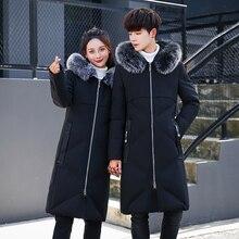 New 2017 Winter Down Jacket Men Warm Coat Fashion White Duck Down Jackets Long Slim Coat Men Natural Fur Collar Thicken Parkas