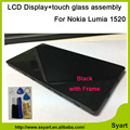 Alta qualidade de 6.0 polegada lcd novo display lcd celular + tela de toque digitador assembléia completo com moldura para nokia lumia 1520