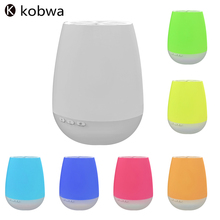 2017 Kobwa Colorful Wireless Bluetooth Speaker With Sensor LED Light Support Remote Control Stereo Sound Column Box Music Player