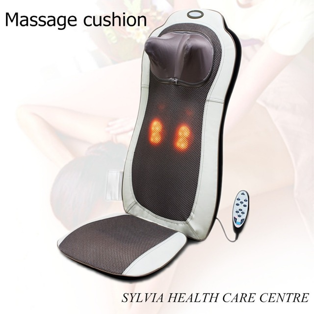 As Seen On TV 2017 Electric Massage Chair Cushion Full Body Shiatsu 4d  Cervical Vertebra Massage