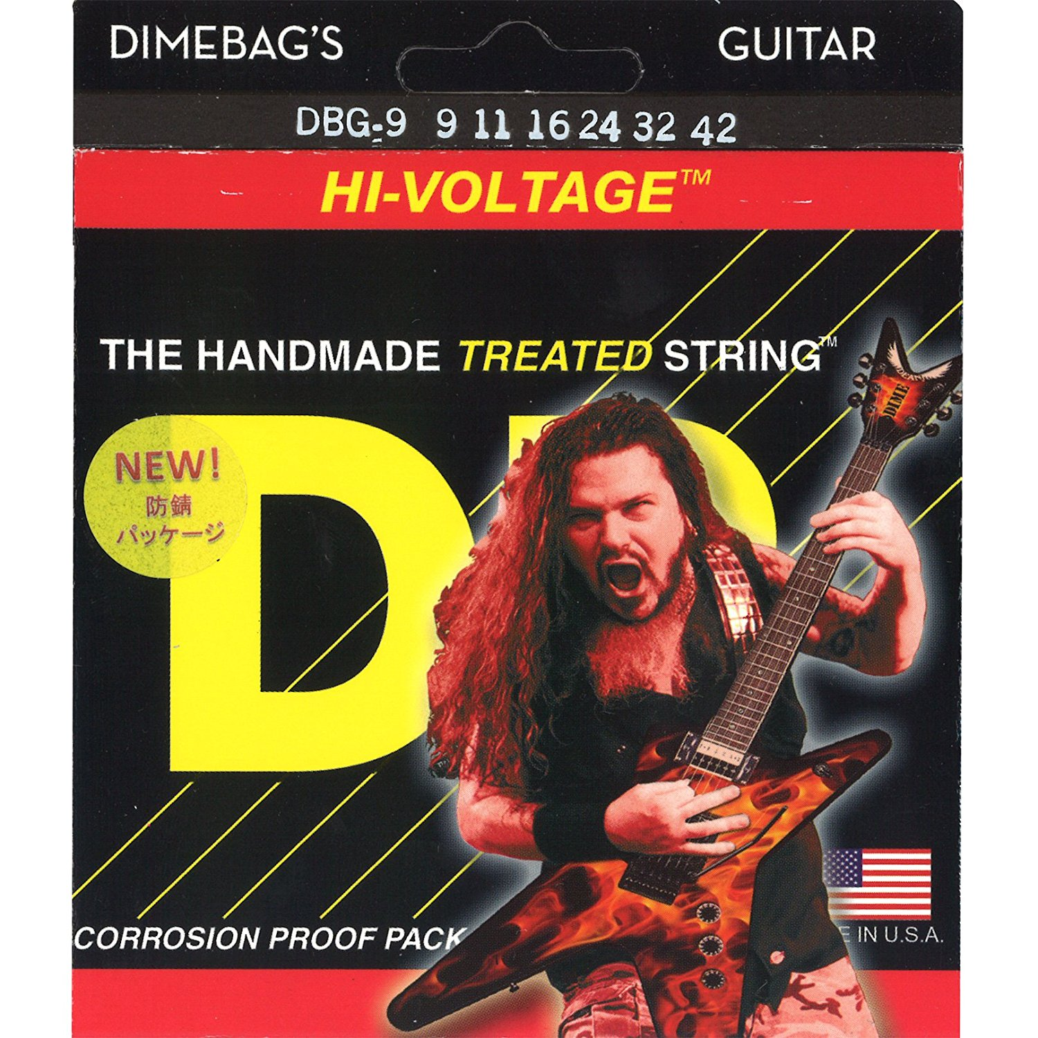 DR Strings Electric Guitar Strings, Dimebag Darrell Signature, Treated Nickel-Plated Strings, DBG-9 DBG-9/46 DBG-10
