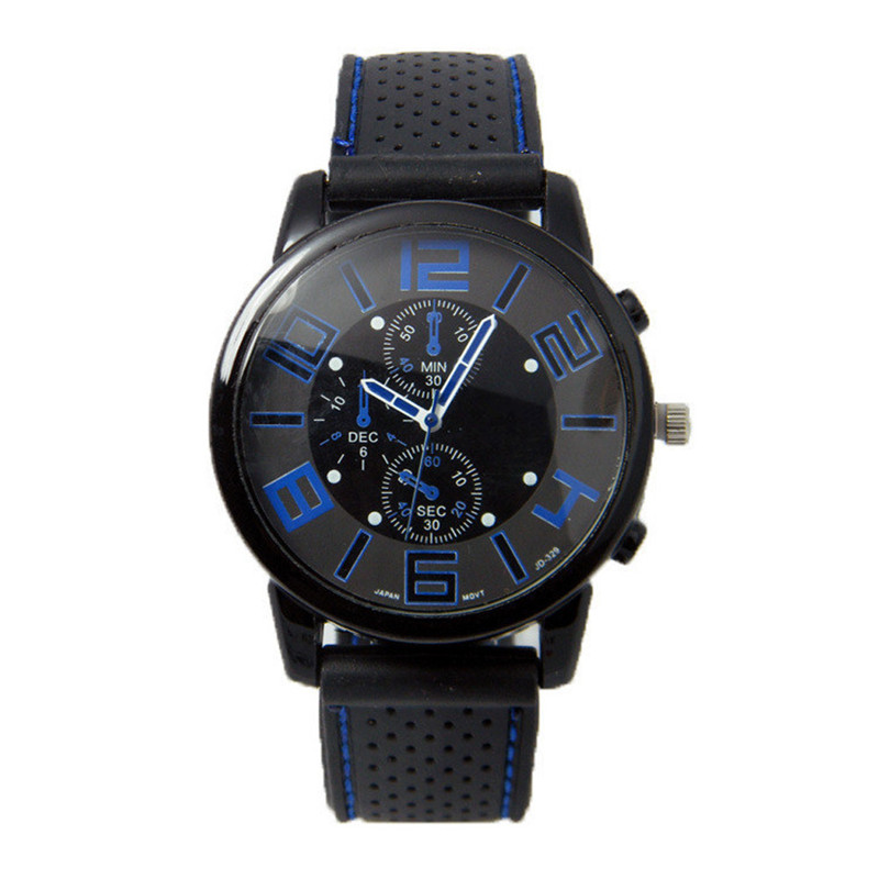 2017 1PC Men Fashion Stainless Steel Sport Cool Quartz Hours Wrist Analog Watch Watch blue shope 30%