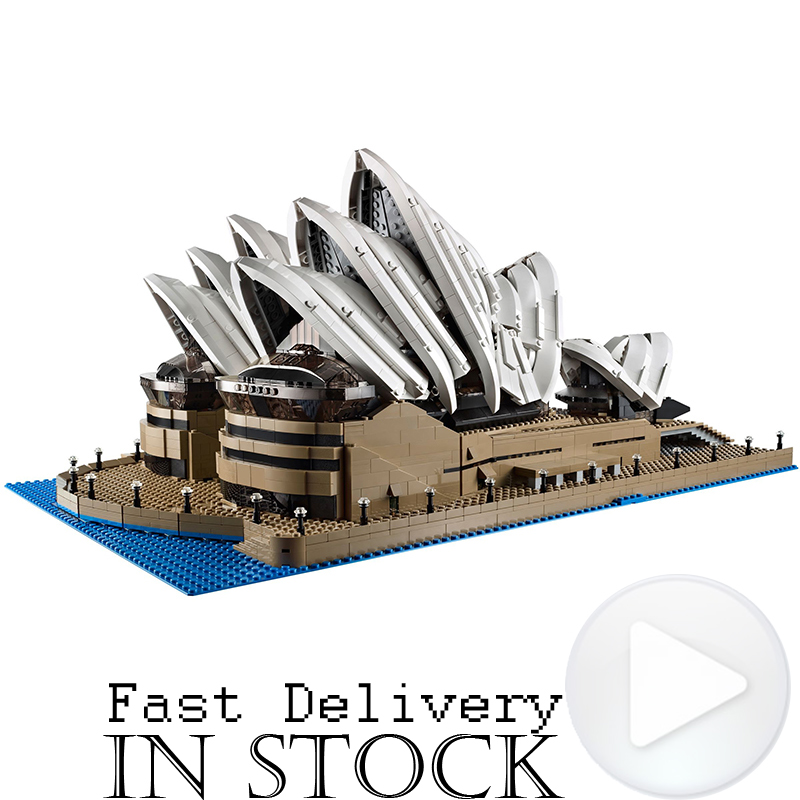 LEPIN 17003 Sydney Opera House Street View Creator Building Blocks Bricks Toys For Kids Model Compatible withINGly 10234 a toy a dream lepin 15008 2462pcs city street creator green grocer model building kits blocks bricks compatible 10185