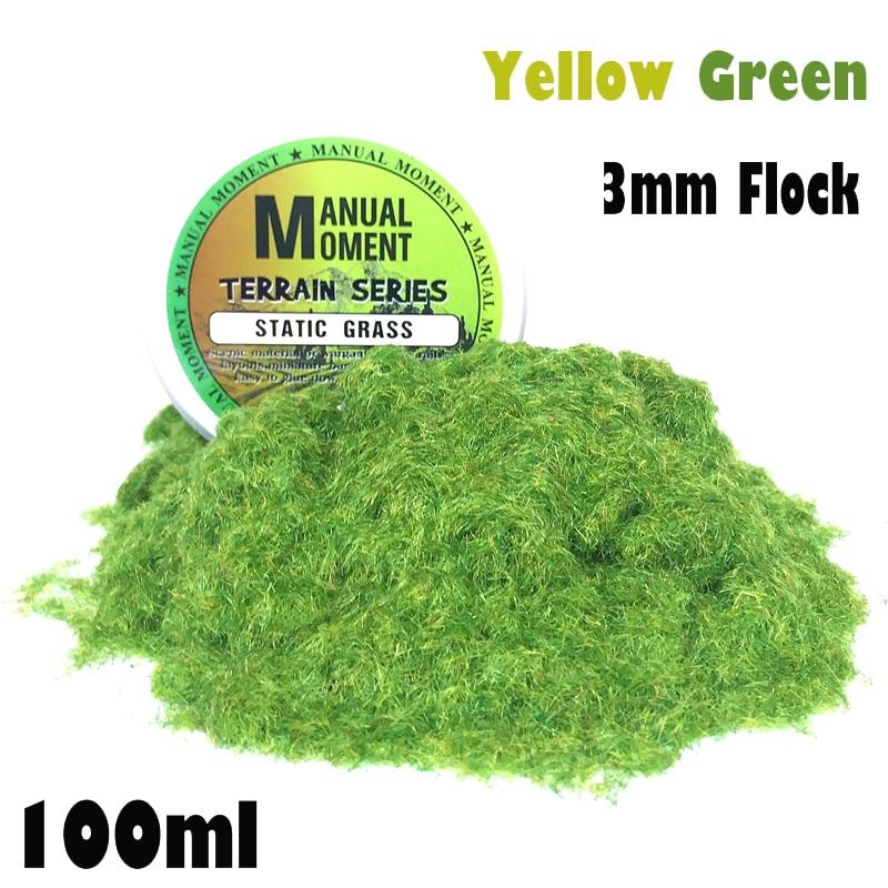 Miniature Scene Model Materia Yellow Green Turf Flock Lawn Nylon Grass Powder STATIC GRASS 3MM Modeling Hobby Craft Accessory сноуборд terror snow grass green