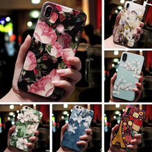 3D Relief Bloemen Phone Case Voor Vivo Y17 Y91C Y81 Case TPU Silicon Cover Voor Vivo V11 Pro V15 Pro v9 Y85 Y91 Y95 U1 Y3 A79 Case(China)