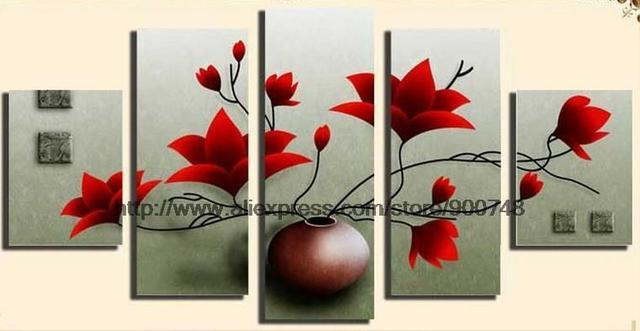 Beautiful Flower Landscape Oil Paintings Canvas Painting Ideas Realistic  Abstract Painting Bathroom Background Abstract Oil