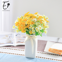 Erxiaobao Bellis Perennis Daisy Marguerite Artificial Flowers Fake Silk Flower Wall Decoration Wedding Home Indoor Decor цена и фото